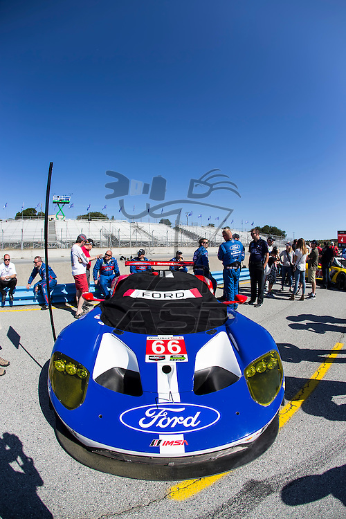 Salinas, CA - May 01, 2016:  The IMSA WeatherTech Sportscar Championship teams take to the track for the Monterey Grand Prix Presented by Mazda at Mazda Raceway in Salinas, CA.