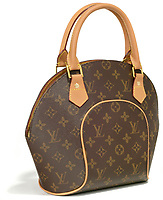 louis vuitton monogrammed bowling bag style handbag