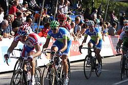Jure Kocjan and Grega Bole (Slovenia) during the Men's Elite Road Race at the UCI Road World Championships on September 25, 2011 in Copenhagen, Denmark. (Photo by Marjan Kelner / Sportida Photo Agency)