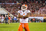 Deshaun Watson strikes a pose for fans prior to the start of the national championship game at Raymond James stadium in Tampa.