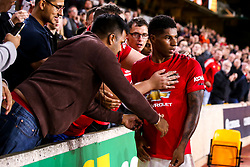 Marcus Rashford of Manchester United goes over to the Manchester United fans at full time - Mandatory by-line: Robbie Stephenson/JMP - 19/08/2019 - FOOTBALL - Molineux - Wolverhampton, England - Wolverhampton Wanderers v Manchester United - Premier League