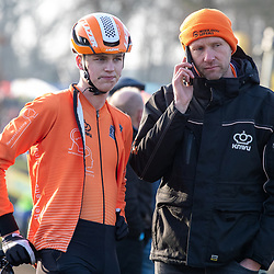 26-01-2020: Wielrennen: Wereldbeker Veldrijden: Hoogerheide. <br />Twan van der Drift, Geben de Knegt