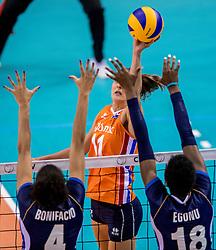 26-05-2017 NED: Nederland - Italie, Apeldoorn<br /> Kick off voor het Nederlands vrouwenteam begon met een oefenwedstrijd in Apeldoorn. Italië werd met 3-1 verslagen / Anne Buijs #11