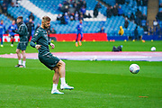 Leeds United defender Liam Cooper (6) warming up during the EFL Sky Bet Championship match between Sheffield Wednesday and Leeds United at Hillsborough, Sheffield, England on 26 October 2019.