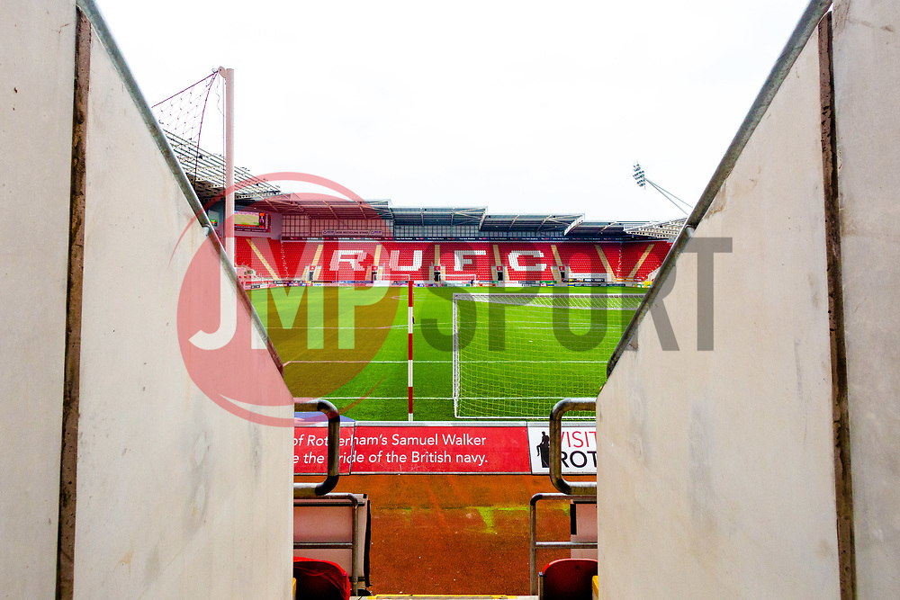 A general view of the Aesseal New York Stadium, home to Rotherham United - Mandatory by-line: Ryan Crockett/JMP - 15/12/2018 - FOOTBALL - Aesseal New York Stadium - Rotherham, England - Rotherham United v Reading - Sky Bet Championship