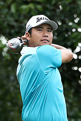 August 11, 2017 - Charlotte, North Carolina, United States - Hideki Matsuyama tees off the 17th hole during the second round of the 99th PGA Championship at Quail Hollow Club. (Credit Image: © Debby Wong via ZUMA Wire)