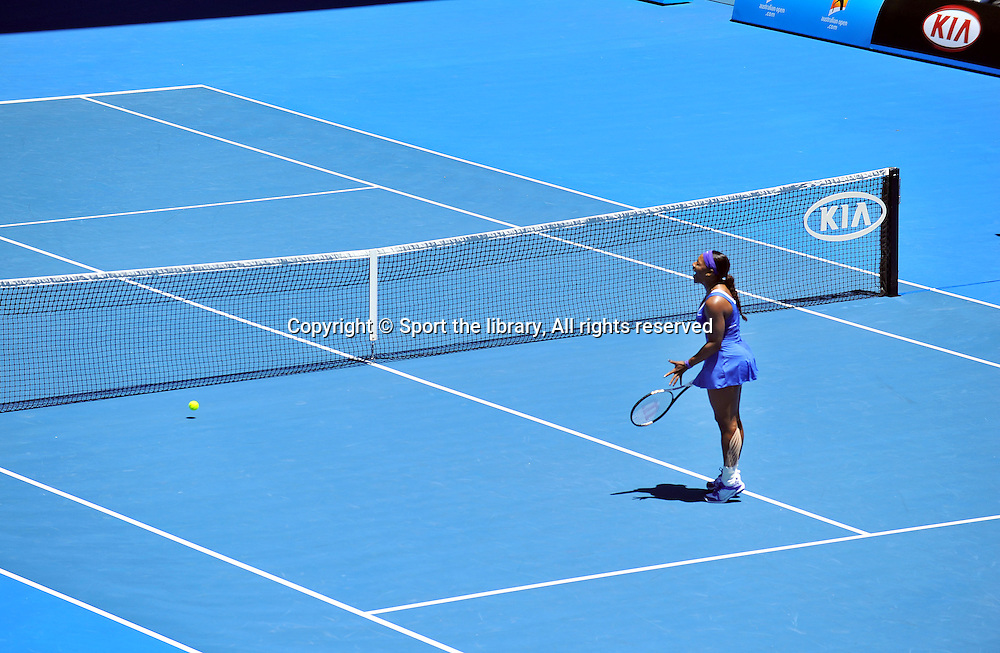Serena Williams (USA)<br /> 2012 Australian Open Tennis<br /> Melbourne, Victoria<br /> Thursday January 19th 2012<br /> &copy; Sport the library / Courtney Crow