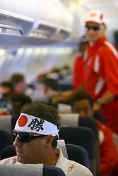 O técnico Abel Braga dentro do avião no voo de volta para o Brasil. FOTO: Jefferson Bernardes/Preview.com
