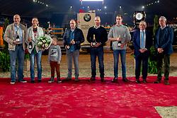 Team Reining, Bernard Fonck, Ann Fonck, Verschueren Dries, Tdeam Mennen, Geerts Glenn, Degrieck Dries<br /> Vlaanderens Kerstjumping - Memorial Eric Wauters - Mechelen 2018<br /> © Hippo Foto - Dirk Caremans<br /> 26/12/2018