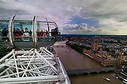 Les Douze Enfant on the London Eye - A group of 12 French school children in the car ahead of me peer out the window