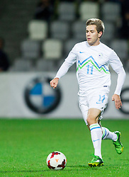 Matej Pucko of Slovenia during football match between U21 National Teams of Slovenia and Russia in 6th Round of U21 Euro 2015 Qualifications on November 15, 2013 in Stadium Bonifika, Koper, Slovenia. Russia defeated Slovenia 1-0. Photo by Vid Ponikvar / Sportida