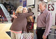 February 15, 2014: The Oklahoma Christian University Eagles basketball teams celebrate senior day during the last home games of the season in the Eagles Nest on the campus of Oklahoma Christian University.