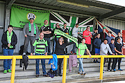 Forest Green Rovers fans during the The FA Cup 4th qualifying round match between Sutton United and Forest Green Rovers at Gander Green Lane, Sutton, United Kingdom on 15 October 2016. Photo by Shane Healey.