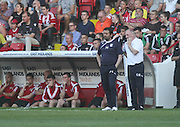 Dundee manager Paul Hartley and assistant Gerry McCabe - Sheffield United v Dundee, pre season friendly at Bramall Lane<br /> <br />  - &copy; David Young - www.davidyoungphoto.co.uk - email: davidyoungphoto@gmail.com