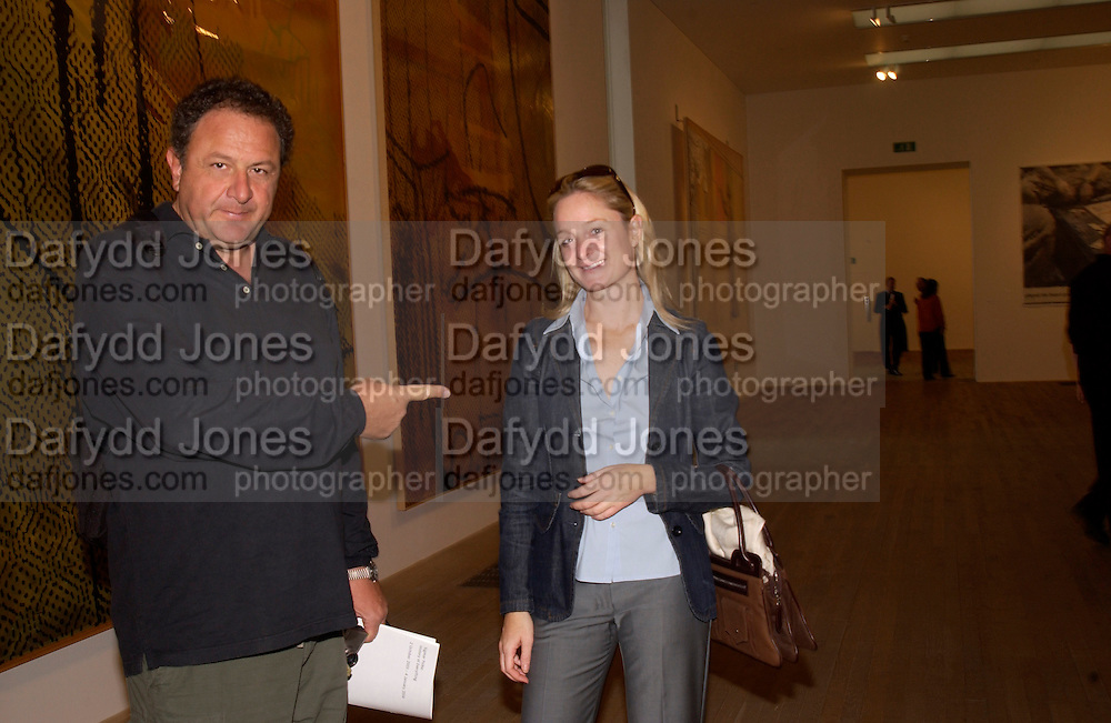 Johnny Pigozzi and Kadee Robbins, Sigmar Polke.  lunch, Tate,© Copyright Photograph by Dafydd Jones 66 Stockwell Park Rd. London SW9 0DA Tel 020 7733 0108 www.dafjones.com