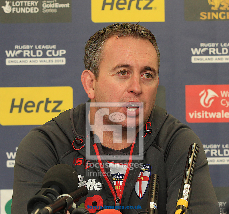 Picture by Richard Gould/Focus Images Ltd +44 7855 403186<br /> 08/11/2013<br /> Steve MacNamara pictured chatting about Saturdays game during England training at the KC Stadium, Kingston upon Hull.