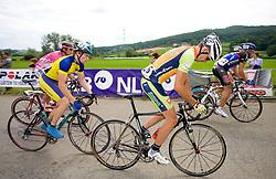 Domen Verac, Uros Silar, and Kristjan Koren at Slovenian National Championships in Road cycling, 178 km, on June 28 2009, in Mirna Pec, Slovenia. (Photo by Vid Ponikvar / Sportida)