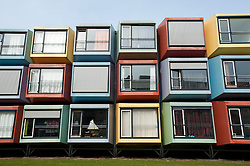 Modular Spacebox student housing at Utrecht University in Netherlands; Architect: Mart de Jong, Architectenbureau De Vijf