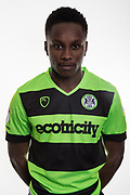 Forest Green Rovers Shawn McCoulsky(21) at Stanley Park, Chippenham, United Kingdom on 14 January 2019.