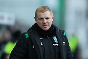 Hibernian manager Neil Lennon during the Ladbrokes Scottish Premiership match between Hibernian and Ross County at Easter Road, Edinburgh, Scotland on 23 December 2017. Photo by Craig Doyle.