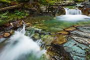 Cascade on Baring Creek, Glacier National Park, Montana USA