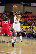 November 27th, 2010:  Anchorage, Alaska - Arizona State's Jamelle McMillan (10) makes a pass in the Sun Devil's 58-67 loss to St. John's in the championship game of the Great Alaska Shootout.  McMillan is the son of former NBA Seattle Super Sonics player and current Portland Trailblazer's coach Nate McMillan.