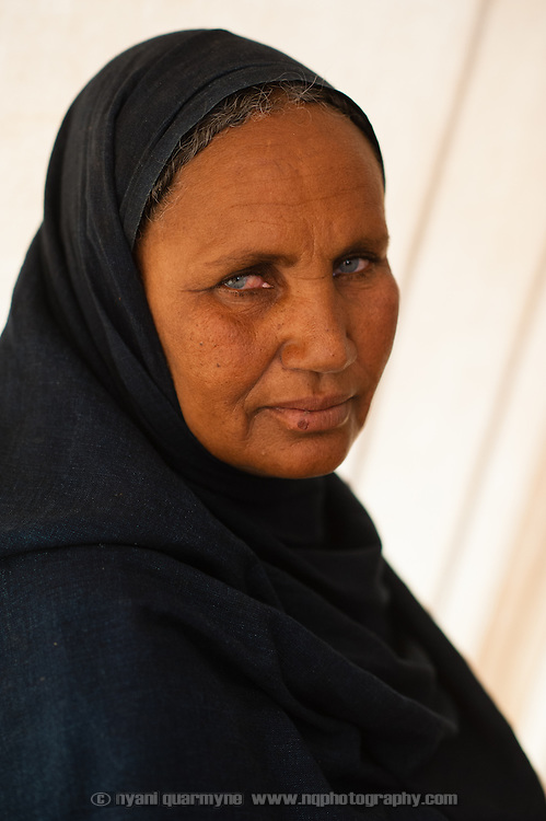 A patient during a consultation at a Médecins Sans Frontières (MSF) health centre at the Mbera camp for Malian refugees in Mauritania on 3 March 2013.