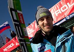 Ales Gorza of Slovenia during 2nd Rund of Men's Giant Slalom of FIS Ski World Cup Alpine Kranjska Gora, on March 5, 2011 in Vitranc/Podkoren, Kranjska Gora, Slovenia.  (Photo By Vid Ponikvar / Sportida.com)