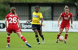 Ini Umotong of Oxford United passes the ball - Mandatory by-line: Robbie Stephenson/JMP - 25/06/2016 - FOOTBALL - Stoke Gifford Stadium - Bristol, England - Bristol City Women v Oxford United Women - FA Women's Super League 2