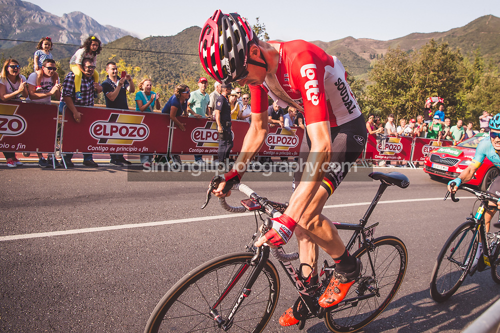 September 7th 2017, Suances to Santo Toribio de Liébana, Spain; Cycling, Vuelta a Espana Stage 18; Stage winner Sander Armee.