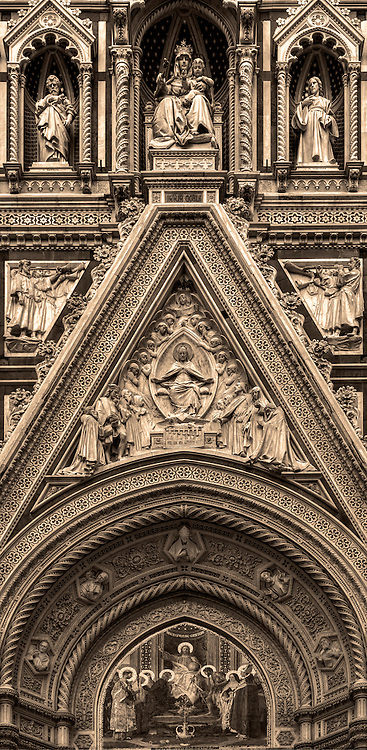 """""""Cathedral of Santa Maria del Fiore Holy Door - Florence – BW""""…"""