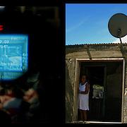 DAILY VENEZUELA II / VENEZUELA COTIDIANA II<br /> Photography by Aaron Sosa <br /> <br /> Left: Alo Presidente, Hugo Chavez, Frias, Barlovento, Miranda State - Venezuela 2006<br /> <br /> Right: Directv Antenna, Guiria, Sucre State - Venezuela 2007 / Antena de Directv, Guiria, Estado Sucre - Venezuela 2007<br /> <br /> (Copyright © Aaron Sosa)