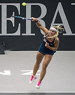 Dominika Cibulkova (SVK) during the finals of the WTA Generali Ladies Linz Open at TipsArena, Linz<br /> Picture by EXPA Pictures/Focus Images Ltd 07814482222<br /> 16/10/2016<br /> *** UK &amp; IRELAND ONLY ***<br /> <br /> EXPA-REI-161016-5012.jpg