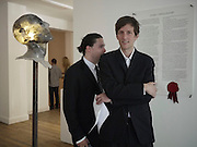 ADAM WAYMOUTH; HENRY HUDSON, Crapula- exhibition of work by Henry Hudson. Hoxton Sq. Gallery. London. 3 June 2010. -DO NOT ARCHIVE-© Copyright Photograph by Dafydd Jones. 248 Clapham Rd. London SW9 0PZ. Tel 0207 820 0771. www.dafjones.com.