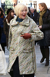 Miranda Richardson leaving the funeral of Only Fools and Horses actor Roger Lloyd-Pack who played Trigger in the TV show,  at St.Paul's Church in  London, Thursday, 13th February 2014. Picture by Stephen Lock / i-Images