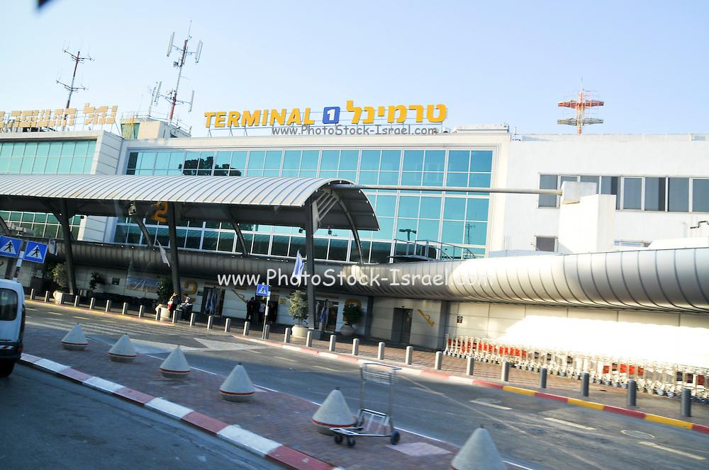 Israel, Ben-Gurion international Airport Entrance to Terminal 1