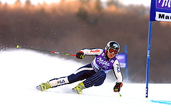 First placed after first run Denise Karbon of Italy skiing in first run of Maribor women giant slalom race of Audi FIS Ski World Cup 2008-09, in Maribor, Slovenia, on January 10, 2009. (Photo by Vid Ponikvar / Sportida)