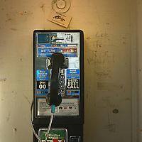 A public pay phone. Roche Harbor, San Juan Island,Washington state USA