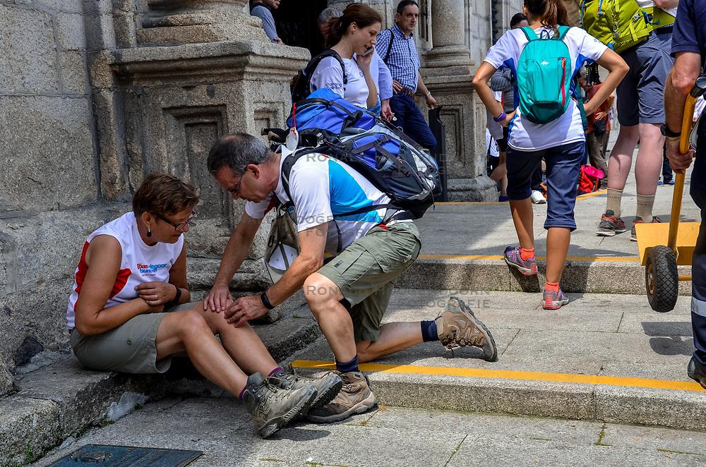 13-06-2017 NED: We hike to change diabetes day 4, Ponferrada<br /> De derde dag van El Acebo naar Ponferrada. Een tocht van 16 km door heuvelachtig landschap maar vooral in de afdaling.