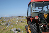 Tractor on the Aran Islands County Galway Ireland