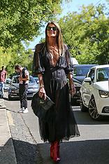 MFW - celebs arrive to fashion shows - 21 Sep 2