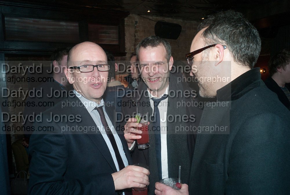 SEAN O'NEILL; DUNCAN GARDHAM; RICHARD ALLEYNE, The Diaries of Fleet Street Fox - book launch party<br /> Century Club, 61-63 Shaftesbury Avenue, London, 18 February 2013