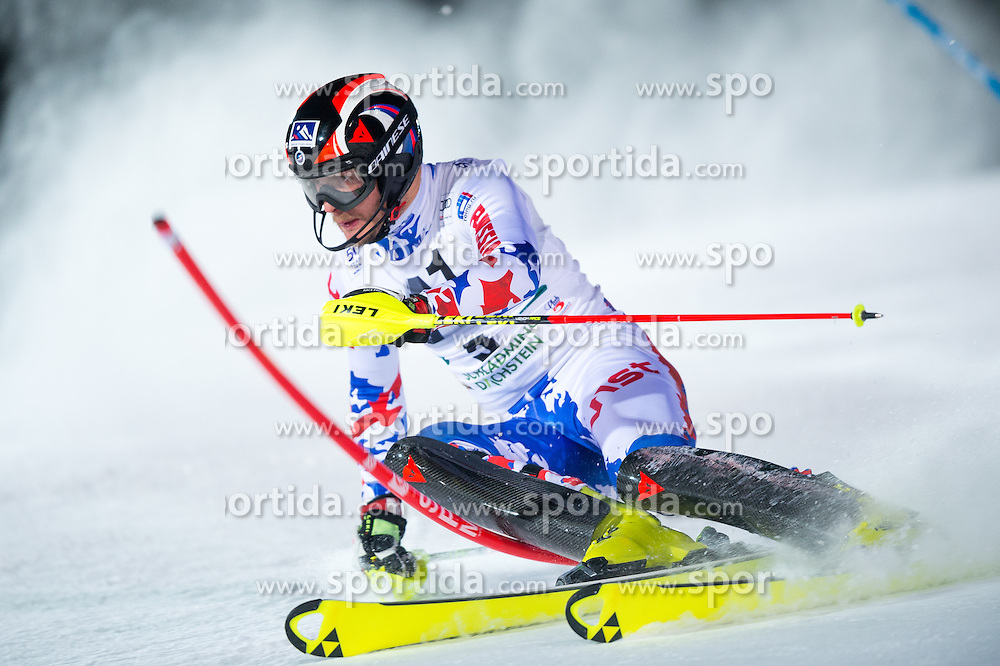 Alexander Khoroshilov (RUS) during the 7th Mens' Slalom of Audi FIS Ski World Cup 2016/17, on January 24, 2017 at the Planai in Schladming, Austria. Photo by Martin Metelko / Sportida