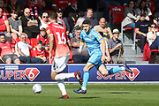 Jack Baldwin and Sean Long  during the EFL Sky Bet League 2 match between Salford City and Cheltenham Town at Moor Lane, Salford, United Kingdom on 14 September 2019.