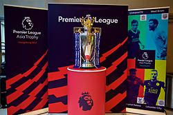 HONG KONG, CHINA - Tuesday, July 18, 2017: The Premier League trophy on display at the Macpherson Stadium ahead of the Premier League Asia Trophy 2017. (Pic by David Rawcliffe/Propaganda)