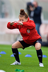 NEWPORT, WALES - Tuesday, August 28, 2018: Wales' Angharad James during a training session at Dragon Park ahead of the final FIFA Women's World Cup 2019 Qualifying Round Group 1 match against England. (Pic by David Rawcliffe/Propaganda)