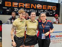 HAMBURG  (Ger) - Match 19,  for bronze , Der Club an der Alster (Ger) - Club Campo de Madrid (Esp) (7-0)  Photo: umpires Claire Druijts, Xenia Ulrich , Caroline vd Leur (TO). Club Cup 2019 Women . WORLDSPORTPICS COPYRIGHT  KOEN SUYK