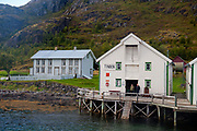 Building at the small and remote settlement of Tinden at Tindsöya, Vestraalen, Nordland, Norway.
