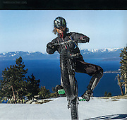 Image: &quot;Lake Tahoe Wheelie&quot;<br /> Athlete: Gary Bell