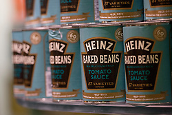 © licensed to London News Pictures. London, UK 23/04/2012. Heinz, beans brand, launching a limited edition set of cans to honour the Queens Diamond Jubilee at Fortnum & Mason, this morning (23/04/12). Photo credit: Tolga Akmen/LNP